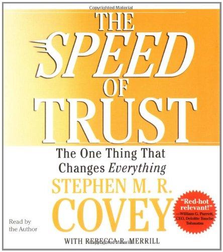 The Speed of Trust Audio CD